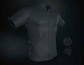 Black Summer Shirt 3D model