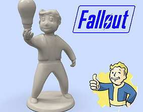 Fallout Vault Boy with light bulb model for 3D printing