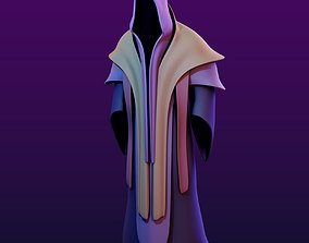 Two Magic Robes with Hood 3D model