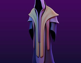 Two Magic Robes with Hood 3D asset low-poly