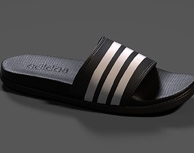 3D model Mens Adilette Comfort Slide Sandals from Finish 1