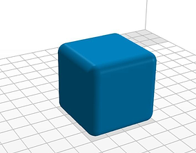 3D printable model Cube rounded edge 40 mm