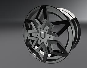 Alloy Wheel 3D asset