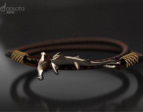 3D print model Hammerhead shark hook bracelet