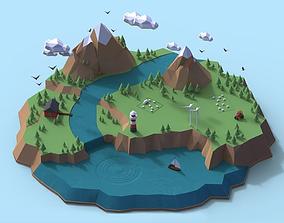 3D model Norway