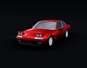 1985 Ferrari 412 3D model animated