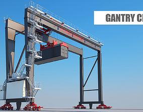 harbor Gantry crane 3D