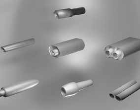 3D asset Exhaust Pipes