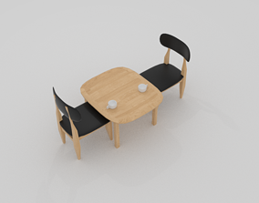 3D model Curve Cafe Chair