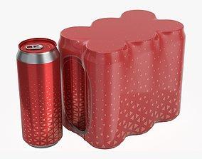 3D model Packaging for 500ml six standard beverage soda 1