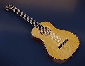Classic guitar 3D model PBR