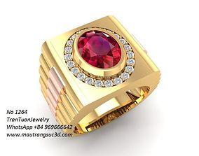 1264 luxury korea diamond ring for men 3D printable model