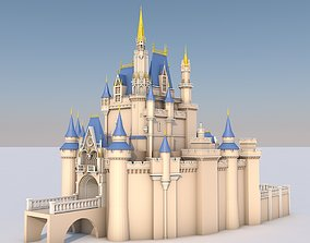 3D model Low Poly Cinderella Disney Castle Landmark