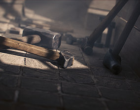 game-ready Hammer 3D Model collection