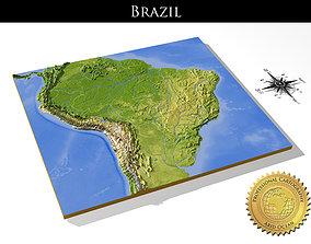 Brazil High resolution 3D relief maps