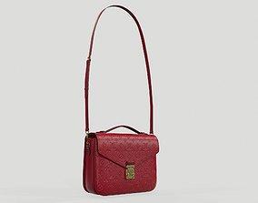 Louis Vuitton Pochette Metis Bag Monogram Scarlet 3D model