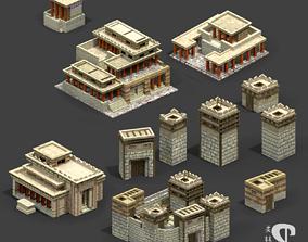 Bronze Age Greek and Mycenanean buildings 3D model