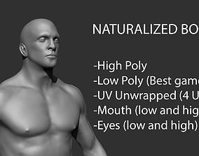 Naturalized Body - GameReady 3D model