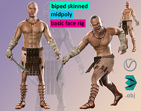 3D model Warrior Hero Medieval Human Male Character