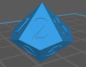 Dice 10 faces 3D asset