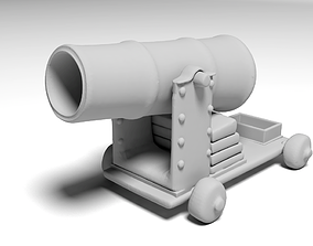 war cannon for 3D print scifi