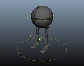 3D model Walker Free Rig