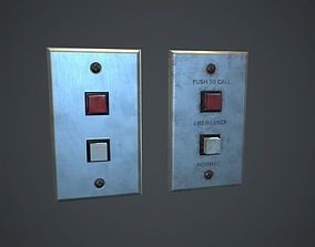 Metal Switch PBR Game Ready 3D asset