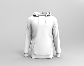 Mens Hoodie with front pocket and UV map 3D