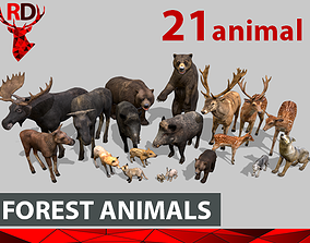 3D asset FOREST ANIMALS short version