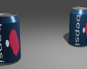 Soda can opened and unopened 3D model