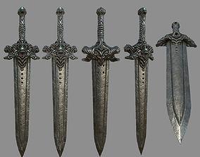 3D model Devil Sword Lowpoly