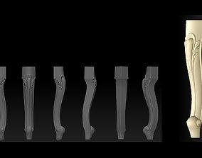 CABRIOLE CARVED Furniture Leg 3D 3