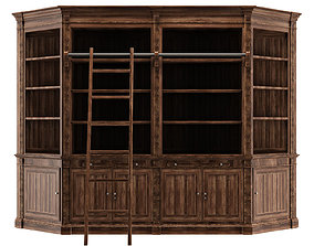 Bookcase for library 3D