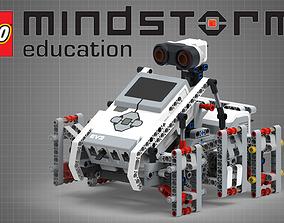 LEGO set 45560 - EV3 Expansion Set 3D model rigged