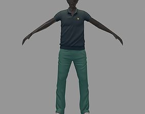 3D avatar casual set grey polo green pants sneakers