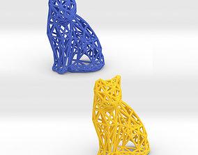 Sitting Cat 3D print model
