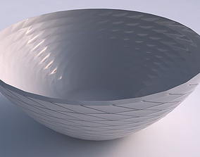 Bowl wide with twisted grid plates 3D print model
