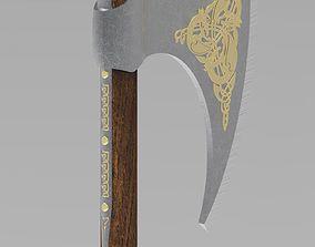 Medieval celtic battleaxe 3D