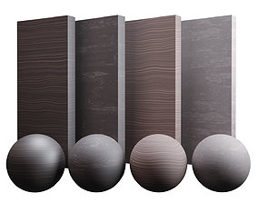 Fine Norway Spruce Wood Varnished Texture PBR 3D model 1