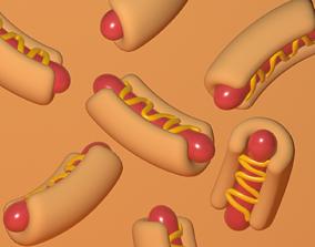 Hot Dog 3D model realtime