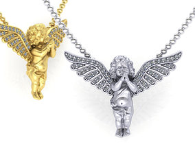 3D printable model Angel Diamond pendant