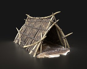 3D model Orcish Shelter Primal Tent Camp Hut House 3