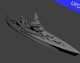 US Colorado Class Battleship 3D print model