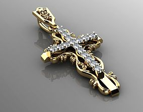 Cross with ornament 3D print model