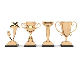 Cups Trophy 3D model prize