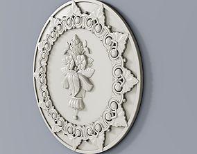 3D print model Classic baroque cartouches element 017