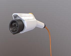 Electric car charging plug 3D model