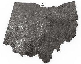 Ohio Relief Map 3D print model