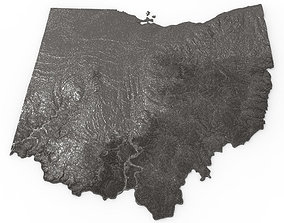 Ohio Relief Map 3D print model