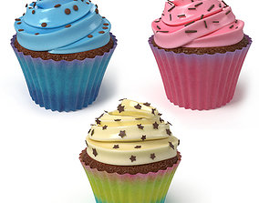 3D asset Cupcake Collection